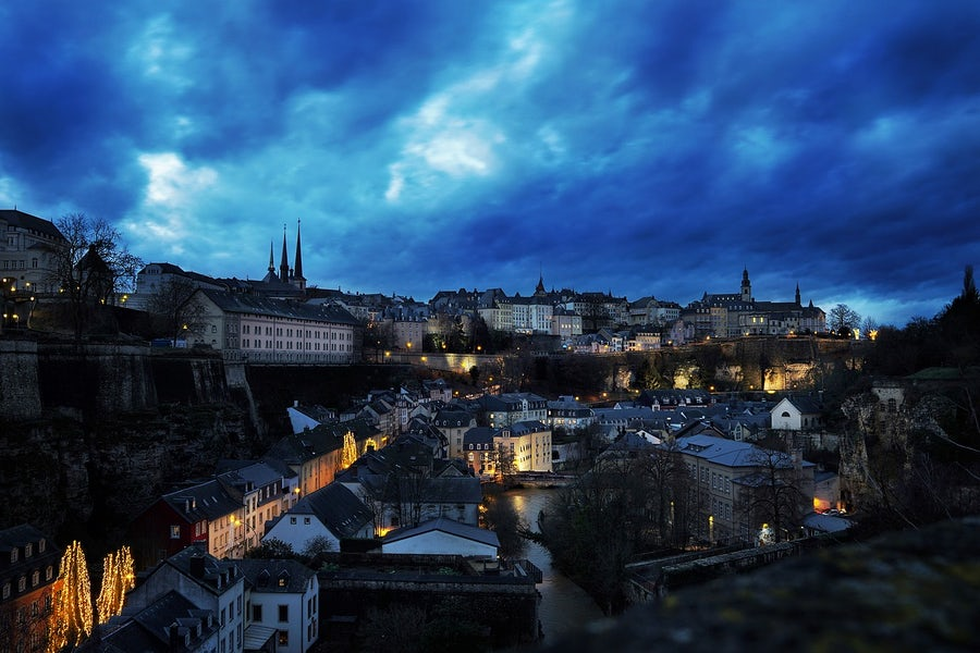 Night view of Luxembourg